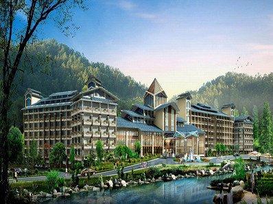 龙门地派温泉度假酒店-池畔温泉别墅房(788抢购,预售产品,需二次预约)